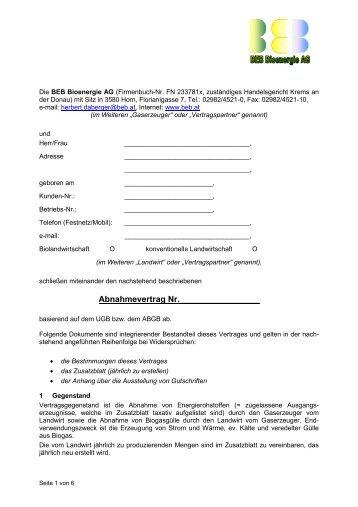 Liefervertrag Verlustenergie Energieversorgung Hildesheim