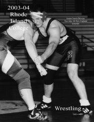 M.Wrestling - Rhode Island College Athletics