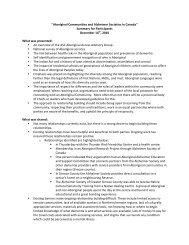 Summary for Participants - Canadian Dementia Resource and ...