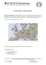 ECM for Paper / cellulose industry - ECM ECO Monitoring