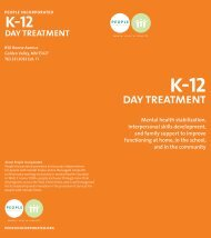 K-12 Day Treatment Brochure - People Incorporated