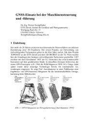 GNSS-Einsatz bei der Maschinensteuerung und ... - IGP - ETH Zürich