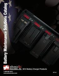 Battery Maintenance Solutions Catalog - AdvanceTec™ Industries Inc.