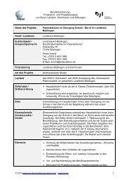 Patenaktionen im Übergang Schule - Beruf im Landkreis Böblingen