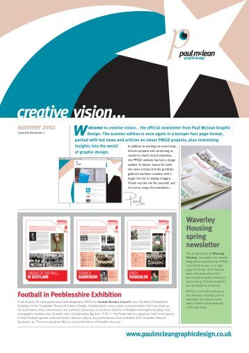 creative vision... issue 7 - Paul McLean Graphic Design