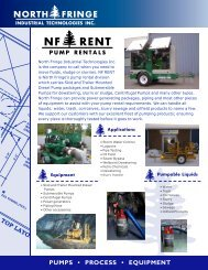 Pump Rental Brochure - North Fringe | Industrial Technologies Inc.