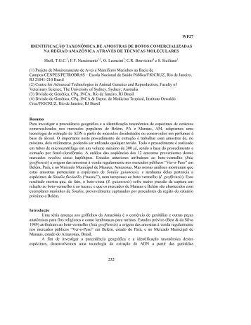 232 wp27 identificação taxonômica de amostras ... - CAR-SPAW-RAC