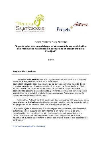 Téléchargez le PDF du projet Projets Plus Actions - Terra Symbiosis