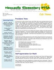 Cub News - Newcastle Elementary PTSA