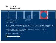 21st Century Techniques in Asset Liability Manageme