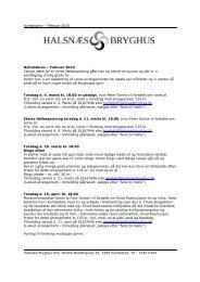 Nyhedsbrev – Februar 2010 Halsnæs Bryghus A/S, Nordre ...