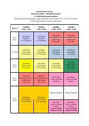Výchova ke zdraví – bakalářské studium 1. ročník kombinované ...