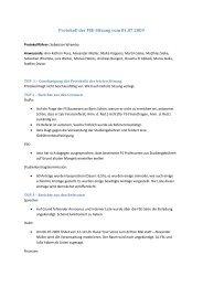 Protokoll der FSE-Sitzung vom 01.07.2009