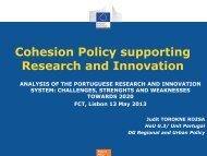 Cohesion Policy supporting Research and Innovation - FCT