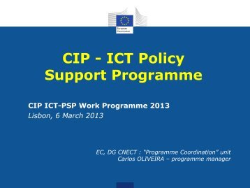 CIP - ICT Policy Support Programme - FCT