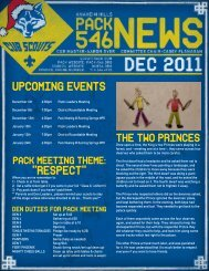 """upcoming events """"respect"""" - Anaheim Hills Cub Scout Pack 546"""