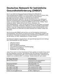 Deutsches Netzwerk für betriebliche Gesundheitsförderung (DNBGF)
