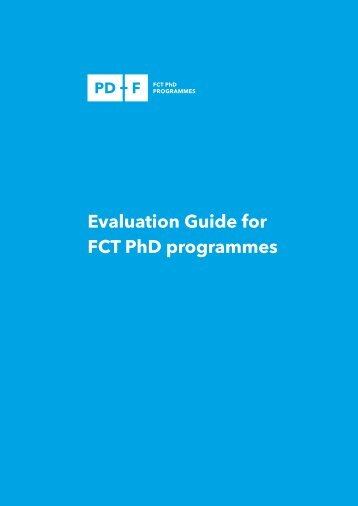 Evaluation Guide for FCT PhD programmes