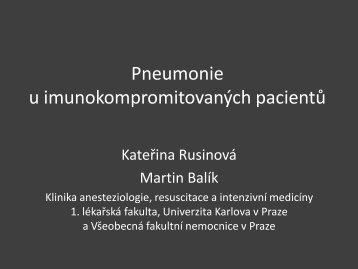 Pneumonie u imunokompromitovaných pacientů - Česká společnost ...
