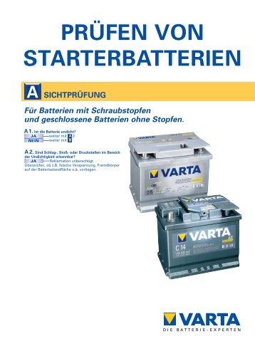 Tabelle f r PDF - VARTA Automotive PartnerNet