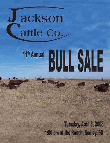 Jackson Cattle Co. - SaskLivestock