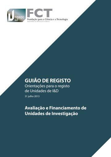 GUIÃO DE REGISTO - FCT