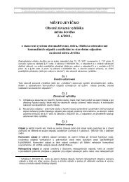 Obecně závazná vyhláška města Jevíčko č. 6/2011, o stanovení ...