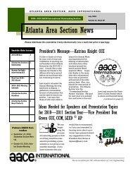 July 2010 - Atlanta Area Section