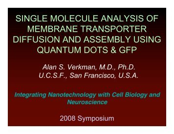 single molecule analysis of membrane transporter diffusion and ...