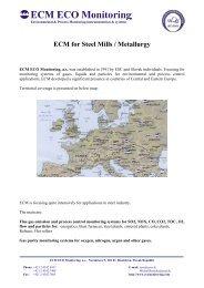 ECM for Steel Mills / Metallurgy - ECM ECO Monitoring