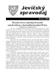 Havárie dvou vojenských letadel nad Jevíčkem a ... - Jevíčko