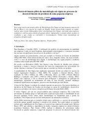 Desenvolvimento piloto da metodologia seis ... - Artigo Científico
