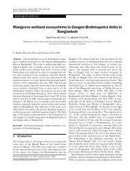 Mangrove wetland ecosystems in Ganges-Brahmaputra delta in ...