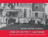 District Calendar featuring historical images - Hilton Central School ...