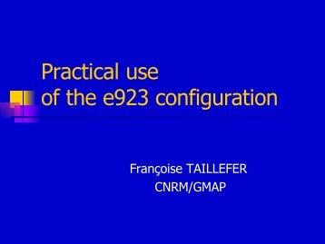 The e923 configuration
