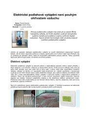 Elektrické podlahové vytápění není pouhým ohřívačem vzduchu