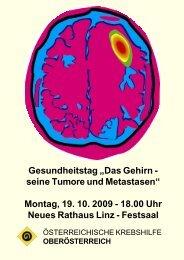 Montag, 19. 10. 2009 - 18.00 Uhr Neues Rathaus Linz - Festsaal