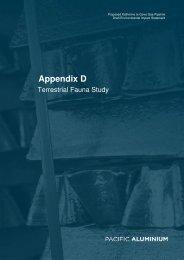 Appendix D: Terrestrial Fauna Study - Pacific Aluminium