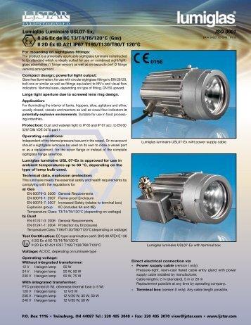 Lumiglas® High Intensity EX Light Series USL 07-EX - L.J. Star, Inc.