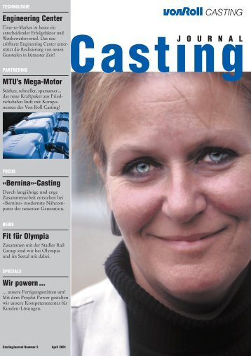 Casting Journal April 2001 - vonRoll casting