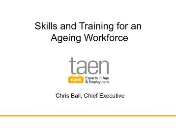 Skills and Training for an Ageing Workforce (2010) - CARDI