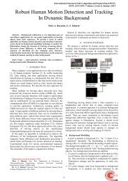 Robust Human Motion Detection and Tracking In Dynamic ...