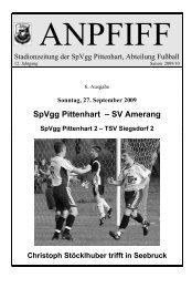 SpVgg Pittenhart – SV Amerang