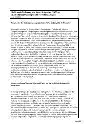 Häufig gestellte Fragen und deren Antworten (FAQ) zur 50 ... - BDEW