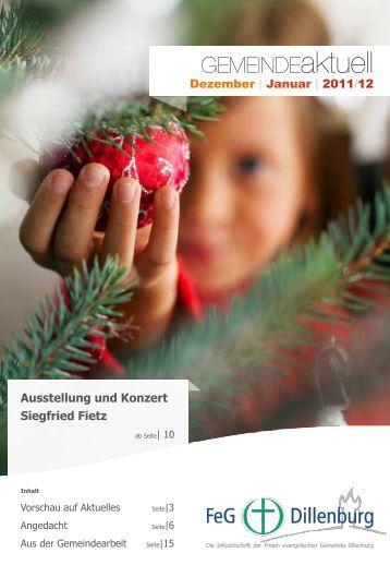 Dezember 2011 und Januar 2012 - FeG Dillenburg