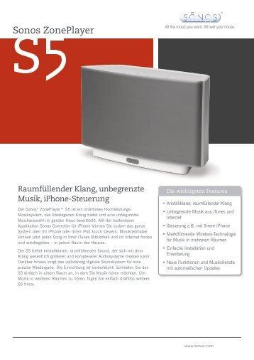 Sonos ZonePlayer - Klangwandel