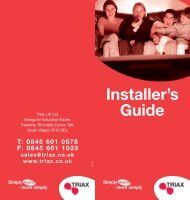 triax installers guide issue 4 - Eurosat Online