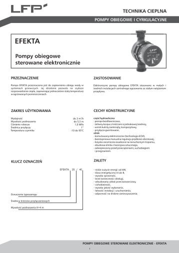 Karta katalogowa EFEKTA - LFP