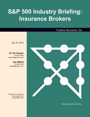 S&P 500 Industry Briefing: Insurance Brokers - Dr. Ed Yardeni's ...
