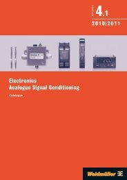 Каталог Weidmuller: Electronics - Analogue Signal Conditioning